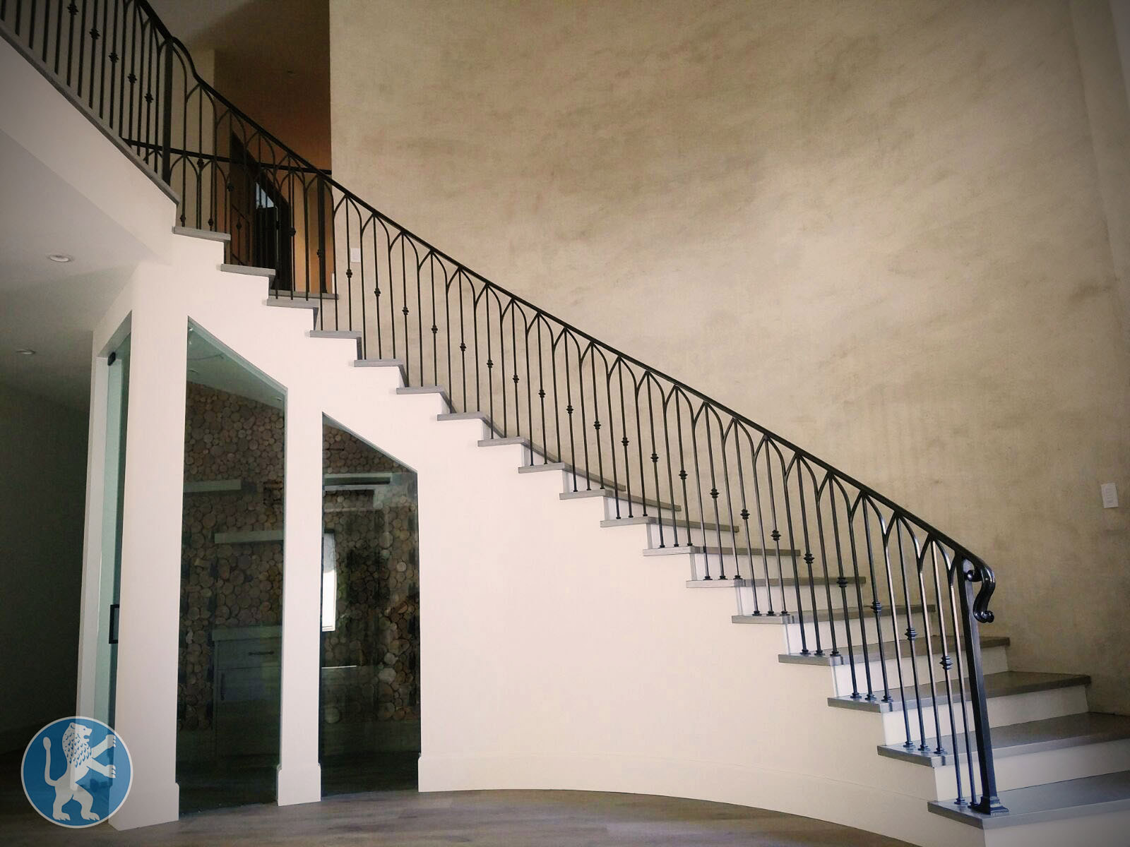 decorative railings. Decorative railings with ornamental design and decorative knuckles  Railings Perfect Garage Doors Gates Inc