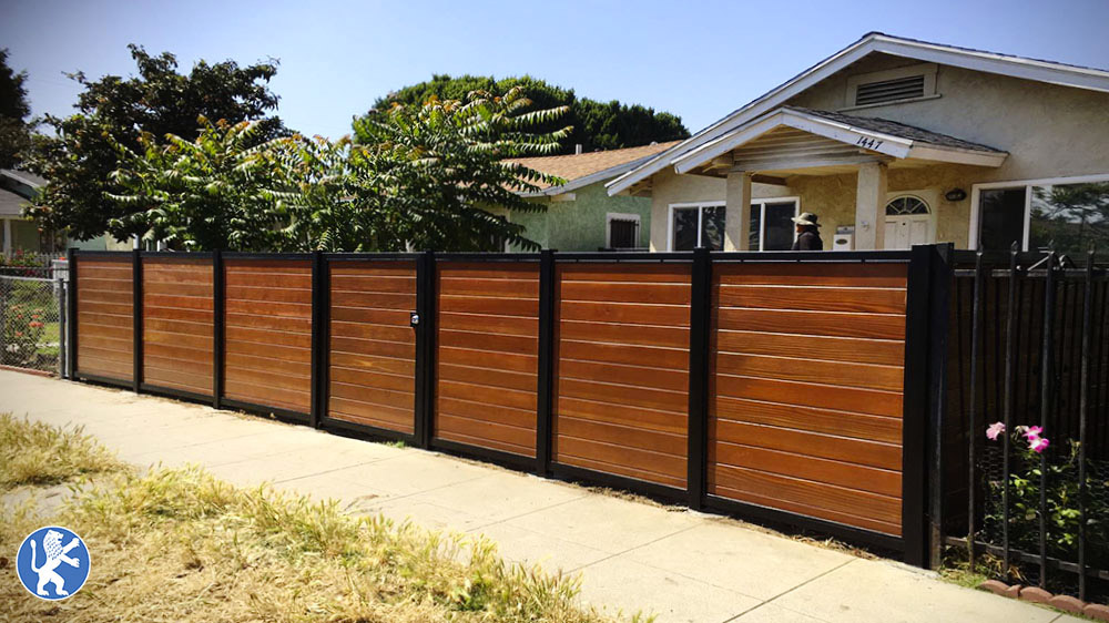Design Fencing Fencing perfect garage doors gates inc wood and iron mixed horizontal design fencing solid look for privacy workwithnaturefo
