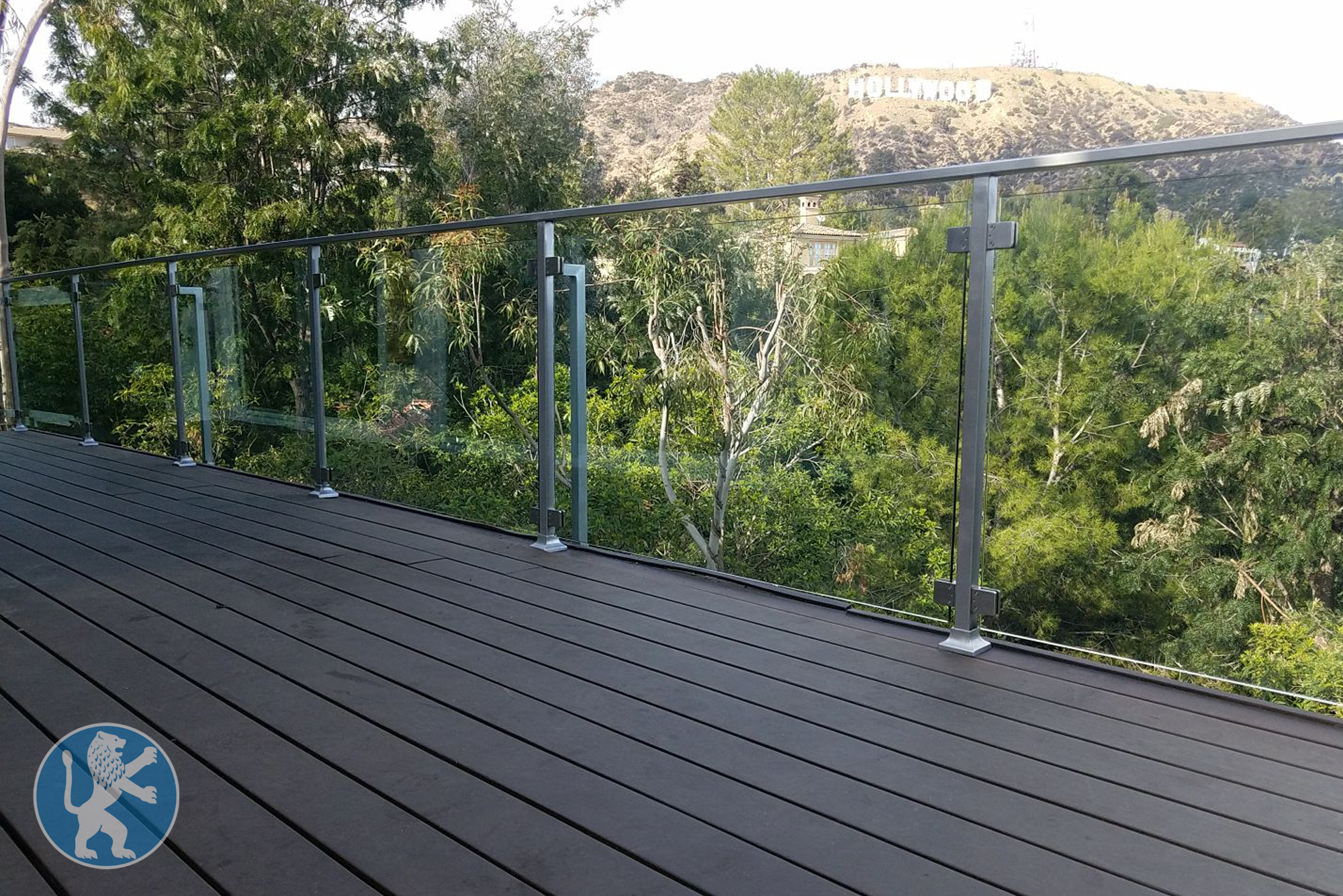 Custom Glass Railing Hollywood Ca Perfect Garage Doors